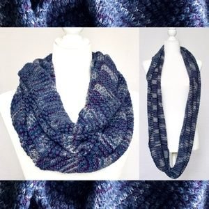 Accessories - Blue Knit Circle Scarf